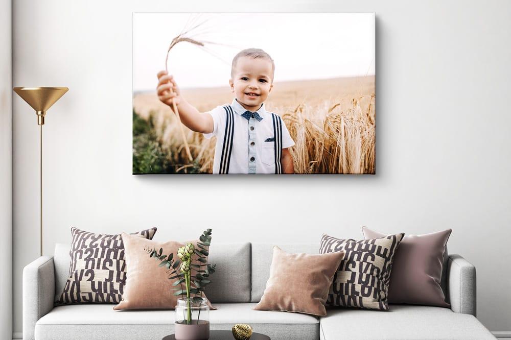 Foto auf Leinwand zu hoch aufgehängt