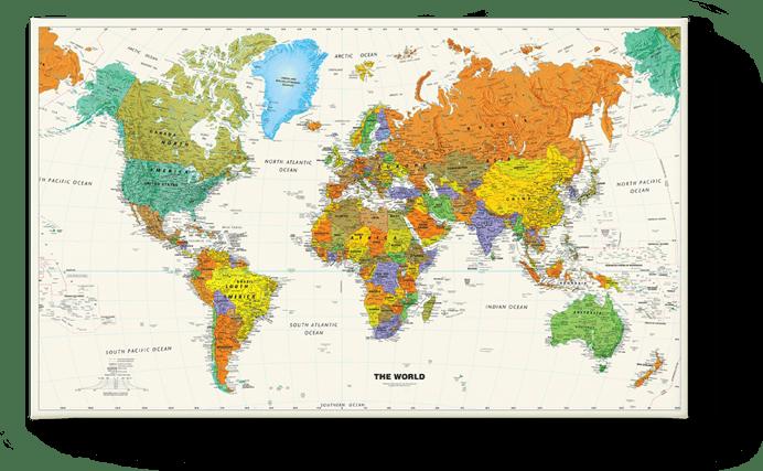 Weltkarte Schullandkarte 1