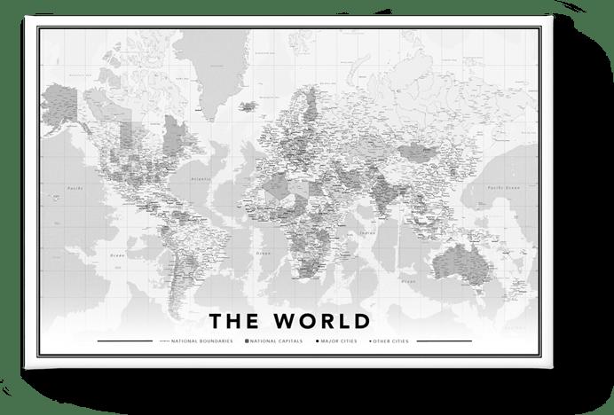 Weltkarte Modern