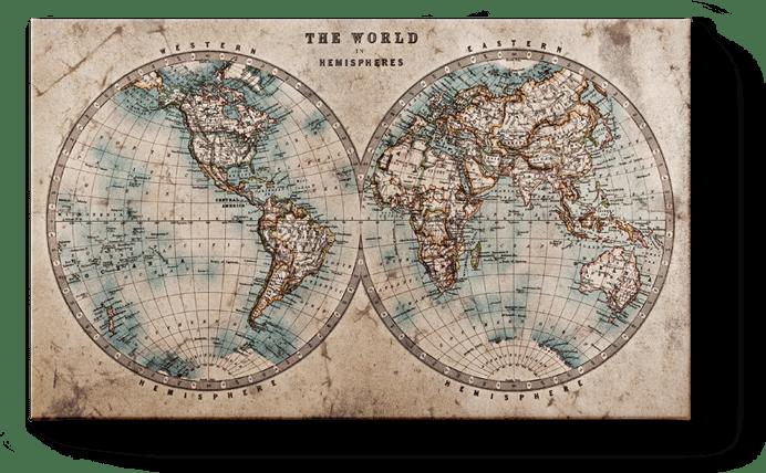 Weltkarte Landkarten Auf Leinwand Halloleinwand