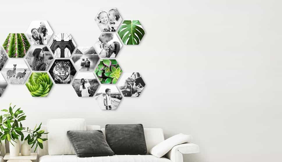 CusttomShapes an der Wand im Wohnzimmer