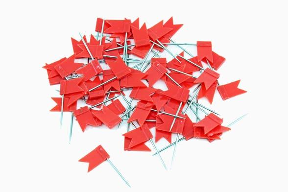 60 Rote Fähnchen